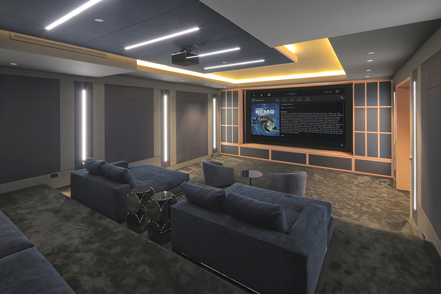 Control Home Theater TV, Audio, and Shades